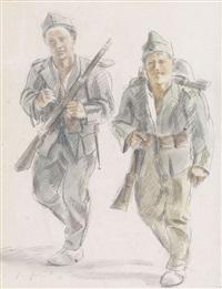 zwei soldaten by friedrich traffelet