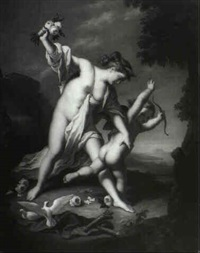 venus admonishing cupid by giuseppe mazzola