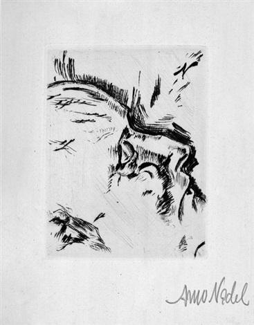 die erlösten zehn totenmasken radierungen mit zwei gedichten des künstlers bk w10 works title and justif by arno nadel