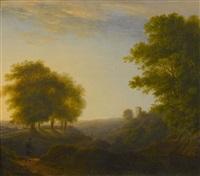 landschaft im abendlicht by jacob christoph ziegler