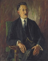 porträt eines sitzenden herren by emil rudolf weiss