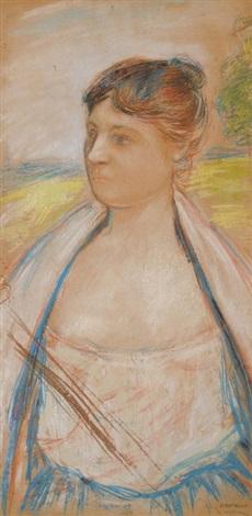 portrait einer dame by jean françois raffaëlli