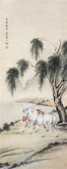 柳溪双骏 by ma jin