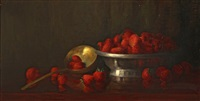 still life with strawberries by susan sroufe