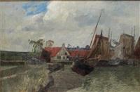 fischerboote in der eiderbucht, nordsee by andreas dirks