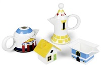service à thé et café (model italian village) (set of 4) by denise scott brown and robert venturi