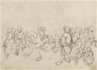 tanzende bauern auf einem dorffest by jan de groot the elder
