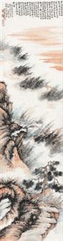仿石涛山水 立轴 设色纸本 by liu haisu