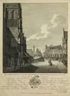 het gezicht van de oude vismarkt te haarlem, vernietigt in het jaar 1768; het gezicht van de nieuwe vismarkt te haarlem, gebouwd in het jaar 1769 (2 works after h. keun) by gaspar phillips jacobs