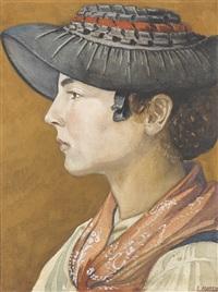 porträt einer walliserin by emile martin