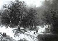 winter landscape by richard lang-heilbronn