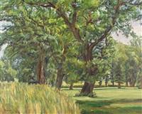 sommerlandschaft mit bäumen by philippe zysset