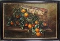 stillleben mit orangen vor korb by léon charles huber