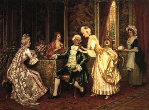a gentleman receiving gifts by i. sabatini