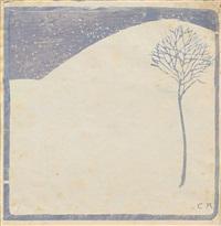 winterlandschaft mit bäumchen by cuno amiet