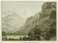 vue de la vallée d`oberhasli by friedrich christian reinermann