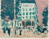 les boulevards by pierre bonnard