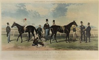the great match, between the flying dutchman (...) & voltigeur (...) (after harry hall) by charles hunt