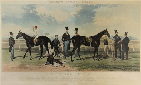 the great match between the flying dutchman voltigeur after harry hall by charles hunt
