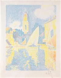 saint-tropez: le port by paul signac