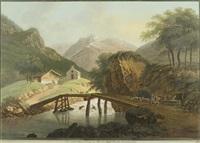 die erste rheinbrücke im medelserthal canton graubünden by johann heinrich bleuler the younger