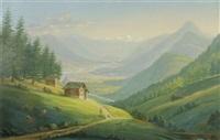 la vallée du rhône. vue prise de la forclaz by johann heinrich bleuler the elder