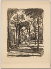 woods by wiesbaden by edvard munch
