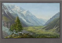 gletscher bei chamonix (after jean dubois) by jean bryner