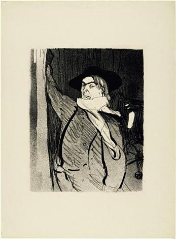 aristide bruant, pl.7 (from le café concert) by henri de toulouse-lautrec