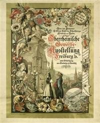 oberrheinische gewerbe-ausstellung freiburg by max honegger
