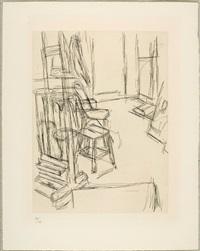 atelier au chevalet by alberto giacometti