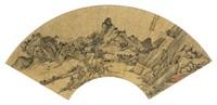 云淡山幽 (landscape) by wen jia