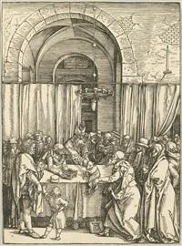 joachims opfer wird vom hohenpriester zurückgewiesen (from marienlben) by albrecht dürer