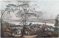 prospect von thallweil am zürichsee by johann jakob aschmann