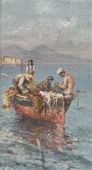fischer in der bucht von neapel by roberto scognamiglio