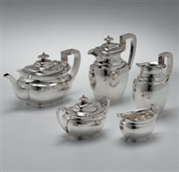 kaffee- und teeservice (set of 5) by atkin brothers