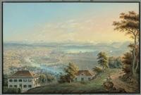 zürich et ses environs by johann ludwig (louis) bleuler