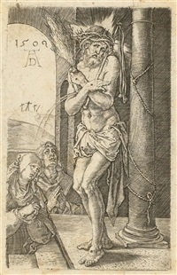 der schmerzensmann an der säule (title page for kupferstichpassion) by albrecht dürer