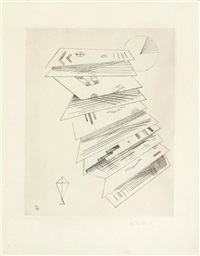 zweite radierung für editions cahiers d'art (from editions cahiers d'art) by wassily kandinsky