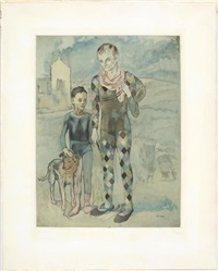 picasso. les saltimbanques by jacques villon
