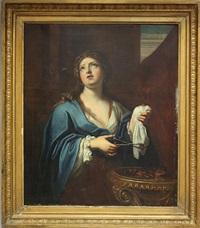 porzia, die ehefrau des marcus brutus, des mörders von caesar, vor einem dreifuß mit glühenden kohlen by anonymous-italian (17)