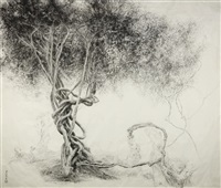 vines planted by wen zhengming ii by zeng xiaojun