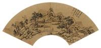 溪南醉归 (landscape) by wen jia