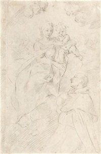 die madonna mit kind erscheint einem heiligen by flaminio torre