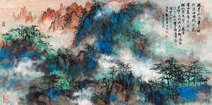泼彩黄山 by liu haisu