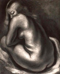 seated nude by lorser feitelson