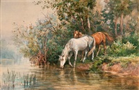 horses by the shore by elsa von wrangel