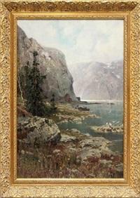 fischer in fjordlandschaft by georg anton rasmussen