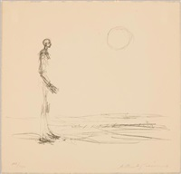 homme debout et soleil (from graphikmappe hochschule st. gallen) by alberto giacometti