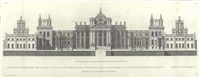 the west front of wansted in essex (set of 6) by colen campbell